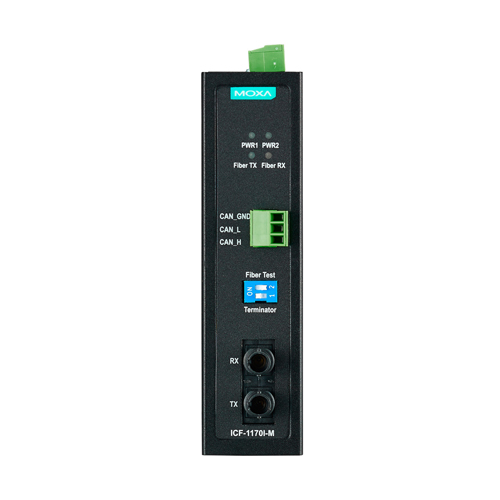 Moxa ICF-1170I-M-ST - Convertisseur Bus CAN vers fibre optique