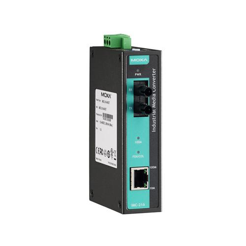Moxa IMC-21A-M-ST - Convertisseur Ethernet vers fibre optique