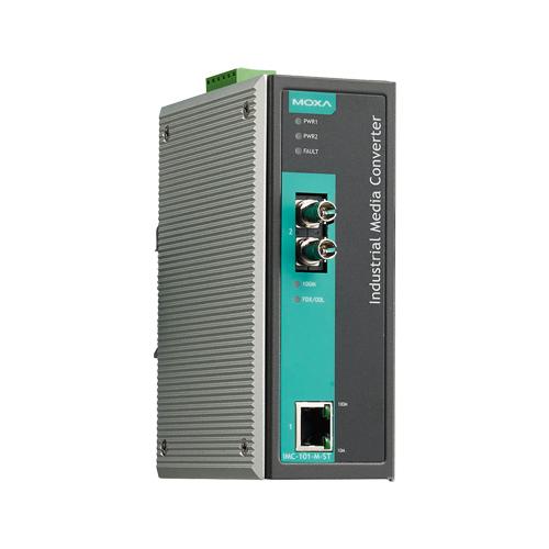 Moxa IMC-101-M-ST - Convertisseur Ethernet vers fibre optique
