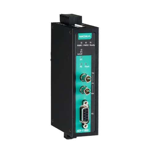 Moxa ICF-1180I-S-ST - Convertisseur Profibus vers fibre optique