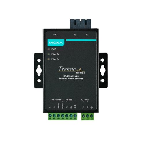 Moxa TCF-142-S-SC - Convertisseur série vers fibre optique
