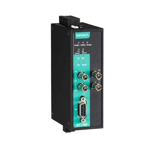 Moxa ICF-1280I-S-ST - Convertisseur Profibus vers fibre optique