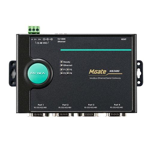Moxa MGate MB3480 - Passerelle Modbus TCP vers Modbus RTU/ASCII