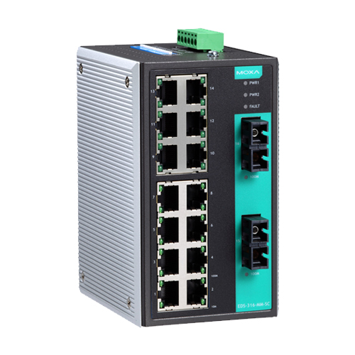 Moxa EDS-316-MM-SC - Switch Ethernet non manageable