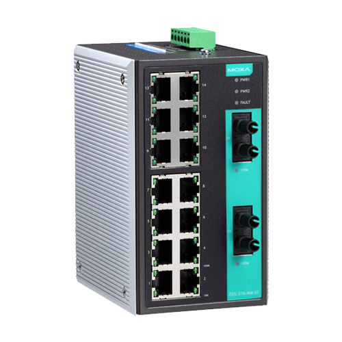 Moxa EDS-316-MM-ST - Switch Ethernet non manageable