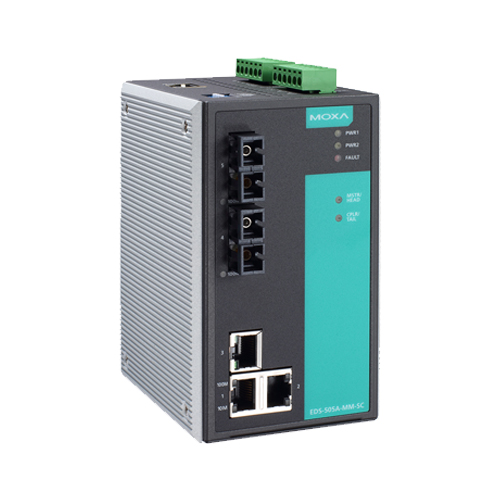 Moxa EDS-505A-SS-SC - Switch Ethernet manageable