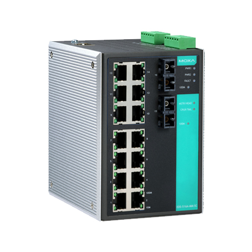 Moxa EDS-516A-MM-SC - Switch Ethernet manageable