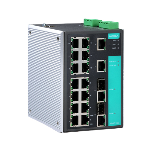 Moxa EDS-518A - Switch Ethernet manageable