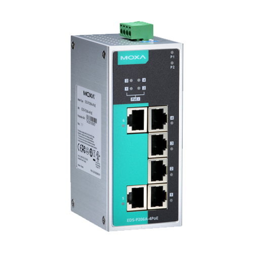 Moxa EDS-P206A-4PoE - Switch Ethernet non manageable