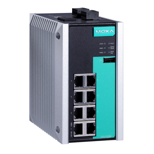 Moxa EDS-G508E - Switch Gigabit Ethernet manageable