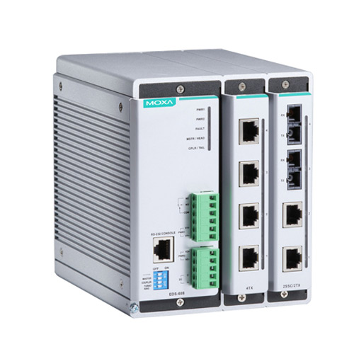 Moxa EDS-608 - Switch Ethernet modulaire manageable