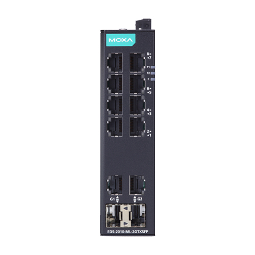 Moxa EDS-2010-ML-2GTXSFP - Switch Ethernet non manageable