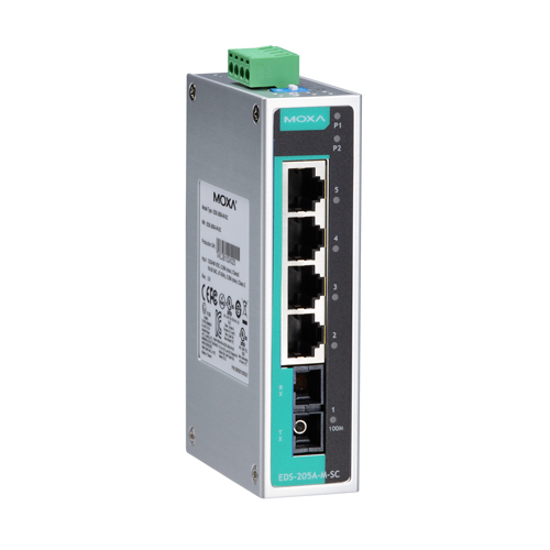 Moxa EDS-205A-S-SC - Switch Ethernet non manageable