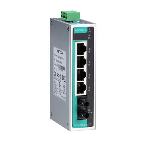 Moxa EDS-205A-M-ST - Switch Ethernet non manageable