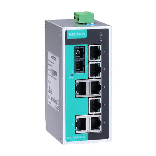 Moxa EDS-208A-S-SC - Switch Ethernet non manageable