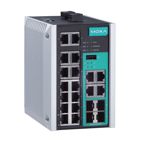 Moxa EDS-518E-4GTXSFP - Switch Ethernet manageable