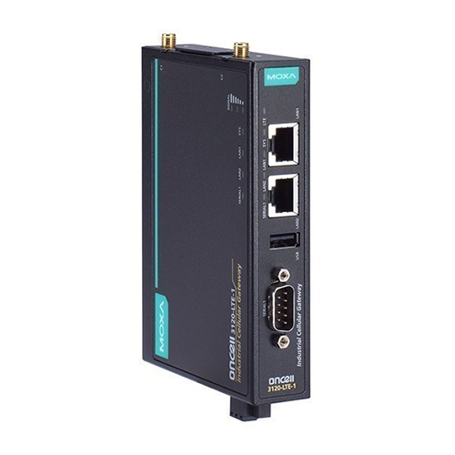 Moxa OnCell 3120-LTE-1 - Passerelle cellulaire  2G/3G/4G LTE